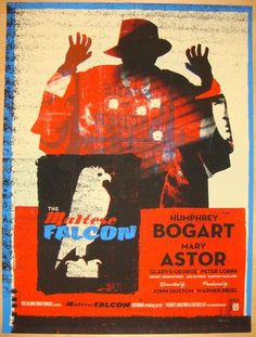 Best Film Posters : The Maltese Falcon silkscreen movie poster (click image for more detail) Artis