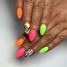 Oh So Special, Macarena + Vitamin C (ombre), Bim Bam Bom  by Indigo Educator Magdalena Żuk #nails #nail #neon #icon #bunny #lola #indigo #new #colours #spring #bugs #funny