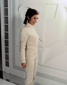 Carrie Fisher on the set of Star Wars: The Empire Strikes Back