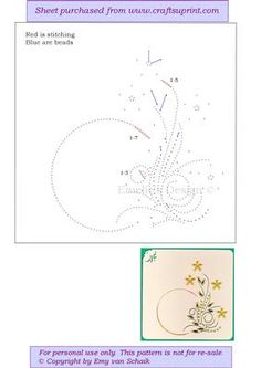 ED122 Springtime on Craftsuprint designed by Emy van Schaik - Stitching with beads - Now available for download!