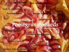 The amazing Pomegranate and its health benefits! www.livingbyseasons.com