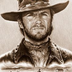 Clint Eastwood American Legend by Andrew Read Canvas Wall Art, Wall Art Prints, Canvas Prints, American Actors, American History, American Indians, Legend Drawing, High Plains Drifter, Dance Of Death