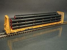 HO Scale 11 stack coated steel line pipe black