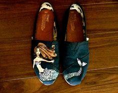 Custom Mermaid TOMS by TrendyTOMS on Etsy, $80.00
