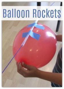 Balloon Rockets - a simple and engaging science experiment that kids of all ages will love.