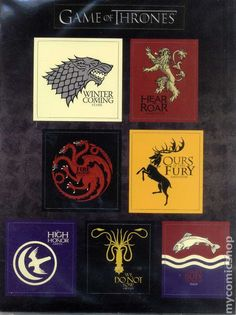 Game of Thrones Sigil Magnets