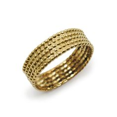 INDIAn LOVE ETHNIC wedding ring  14k yellow gold by KaiJewelry585, $341.00