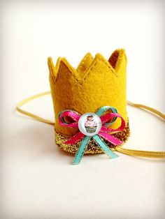 Birthday+Crown+Gold+Felt+Mini+Crown+Headband+by+littleblueolive,+$16.00
