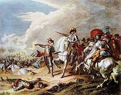 The Battle of Naseby was the decisive battle of the first English Civil War. On 14 June 1645, near the village of Naseby in Northamptonshire, the main army of King Charles I was destroyed by the Parliamentarian New Model Army commanded by Sir Thomas Fairfax and Oliver Cromwell.