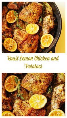 Lemon Roast Chicken and Potatoes