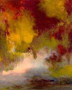"""Saatchi Online Artist: Rikka Ayasaki; Acrylic, Painting """"Passions, Boulogne forest 7016-A (Dyptich)"""""""