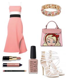 """Simple Set #9"" by peacock-style on Polyvore featuring Christian Siriano, Design Lab, Bobbi Brown Cosmetics, Kester Black, Pink and peachlipstick"