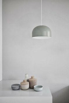 A beautiful collection of ceramics in natural tones.