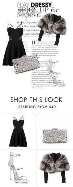 """Party Night💞❄️"" by inconditionalcathaysa ❤ liked on Polyvore featuring Boohoo, Giuseppe Zanotti, Lolita Lempicka and WithChic"