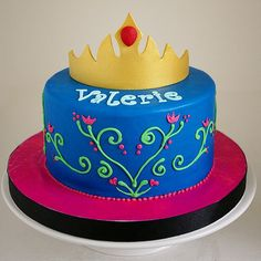 Frozen Anna Birthday Cake Princess anna #frozen