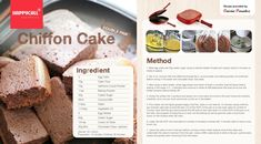 Magic Pan Recipe, Chiffon Cake, Cake Pans, Cocoa, Bread, Baking, Vegetables, Recipes, Kitchens