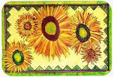 Flower Sunflower Kitchen/Bath Mat