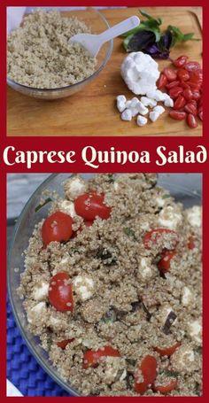 Plan a last minute memorial day BBQ with Caprese Quinoa salad recipe.