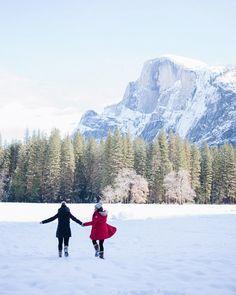 Winter wonderland with a view of Half Dome @bontraveler @will_journey #yosemite #halfdome #willjourney #gmgtravels