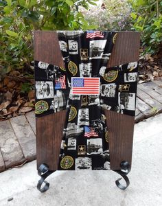 United States Army Fabric Cross, US Army, Army Wife, Army Girlfriend, Army Mom, Military, Army Veteran, Vietnam Veteran, Fallen Soldier by FabricCrossDecor on Etsy