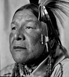 ?, Corbett White (the son of Henry White Mule & Ot-woc-say-wa-me or Dora White Mule, and the husband of the Ioway woman known as Ruth L. Vetter-White) - Otoe - 1940  {Note: Corbett White, served with the U.S. Army in France during World War I, as a Wagoner i on ArtStack #artist-3 #art