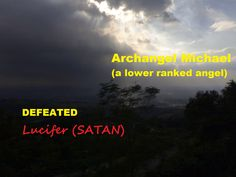 Fall of Satan on Earth.  A lower ranked angel Michael defeated Lucifer. Background Image was shot at Timberland Heights in Rizal. Philippines. (Photo appeared on Jake Lanuza' Facebook Page on September 22, 2015.)