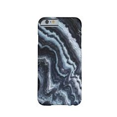Marble Case/Cover for iPhone 6, Veined/Marbled Dark Blue & White Faux Stone