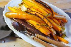 Geglaceerde wortelen met honing en tijm - Francesca Kookt