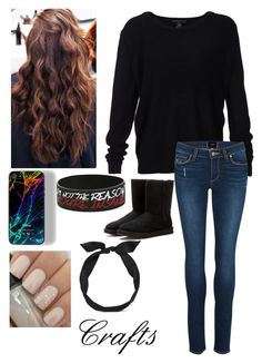 """""""Crafts✓"""" by samantharobins ❤ liked on Polyvore featuring Scoop, Paige Denim, UGG Australia and yunotme"""