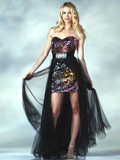 Multi Colored Sequin Prom Dress.  Style #: C9186. Get yours at sungboutiqueLA.com