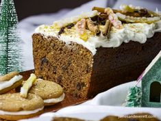 Old World Gingerbread Cake Holiday Baking, Christmas Baking, Gingerbread Cake, Spiced Rum, Toasted Almonds, Confectioners Sugar