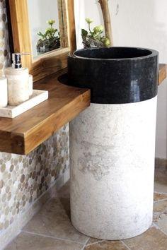 Standwaschbecken / Marmor Säule / Säulenwaschbecken / Waschbecken versch. Farben
