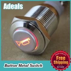 Find More Push Button Switches Information about 16mm 12V LED Momentary Push Button Metal Switch car boat speakers Bells horn,High Quality Push Button Switches from HongKong Adeals Auto Technology Co. Ltd  on Aliexpress.com