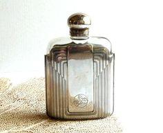 French Vintage Flask .Cacharel . by CabArtVintage on Etsy, $130.00