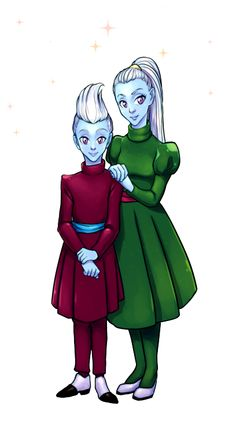 Whis or Wiss from DragonBall Super. Dragon Ball Z and Vados