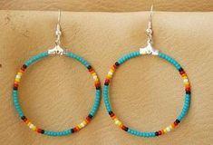 CHECOTAH beaded Native American Earrings by Tribalimpressions