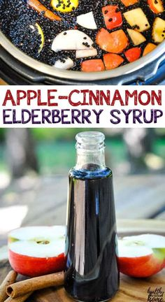 40 minutes · Vegetarian Gluten free Paleo · Makes 1 quart · This apple cinnamon elderberry syrup uses apple juice, … Elderberry Syrup Uses, Elderberry Gummies, Clean Eating Dinner, Clean Eating Recipes, Cooking Recipes, Healthy Snacks, Healthy Eating, Healthy Recipes, Dip Recipes