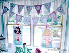 mermaid birthday party #kids #girl #andersruff #printables