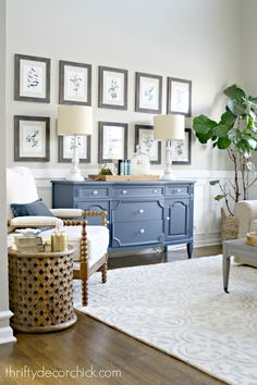 Large symmetrical gallery wall - change up your wall with free printables!