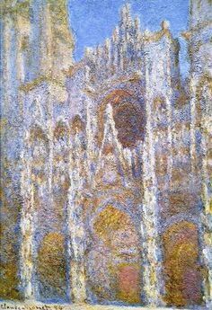 Rouen Cathedral, Sunlight Effect, 1894 by Claude Monet. Impressionism. cityscape