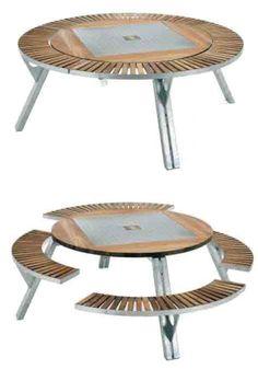 Gargantua Multifunctional Garden Table- this is amazing! - Garden Style - Gargantua Multifunctional Garden Table- this is amazing! Folding Furniture, Multifunctional Furniture, Smart Furniture, Modular Furniture, Space Saving Furniture, Unique Furniture, Industrial Furniture, Wood Furniture, Furniture Design