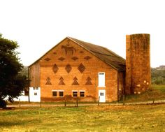 Brickend Barn with Cowboy on Horse - Greencastle PA.  I live about a mile from this lovely building.  :)