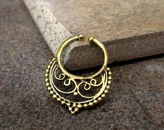 fake septum ring on Etsy, a global handmade and vintage marketplace.