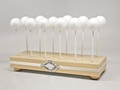 Gorgeous Ivory Cake Pop Stand, Cake Pop Holder, Dessert Display that will beautify your Cake Pops or Lollipops! Makes for a stunning presentation!