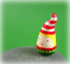 Itty Bitty Elf Sculpture  Miniature by MadeWithClayAndLove on Etsy, $22.00