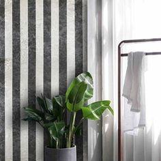 300061 Charcoal Silver Striped Wallpaper