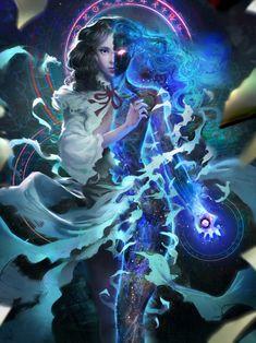 "scifi-fantasy-horror: "" Applibot - Alchemist advanced by Miles Johnston "" Dark Fantasy Art, Fantasy Artwork, Fantasy Kunst, Character Concept, Character Art, Concept Art, Fantasy Inspiration, Character Inspiration, Creation Art"