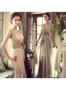 New Fashion A-line/Princess Floor-length Prom Evening Dress & unique Prom Dresses #EasyNip