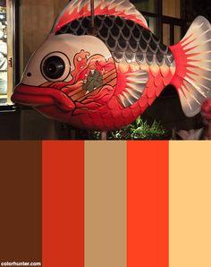 Fish Pumpkin Color Scheme from colorhunter.com