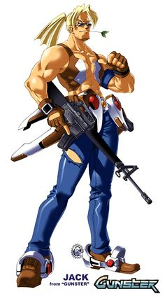 추억의 온라인게임 건스터 캐릭터(gunster/ ガンストライク) 쿨가이 [잭]  #캐릭터디자인 #온라인게임 #건스터 #SF #GUN #rifle #M16 #illust #일러스트 #총 #소총 #추억의게임 #게임캐릭터 #Game #m16소총